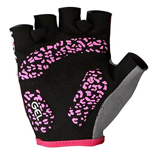 PhilMat Sahoo gants de vélo demi-doigts Gants de vélo antichoc femmes anti-dérapants gants