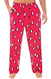 Alexander Del Rossa Mens Flannel Pajama Pants, Long Cotton Pj Bottoms, Large Family Penguins (A0705R75LG)