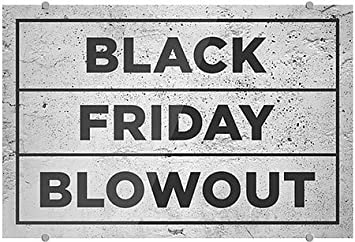 16x16 CGSignLab 2467554/_5absw/_16x16/_None Classic Gold Premium Acrylic Sign Black Friday Blowout