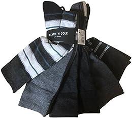 Best Discount Men Dress Socks 6 Pack Sold Grey Stripe