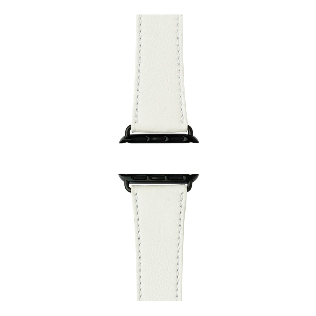 Roobaya | Premium Sauvage Leather Apple Watch Band in White | Includes Adapters matching the Color of the Apple Watch, Case Color:Space Black Stainless Steel, Size:42 mm by Roobaya (Image #3)