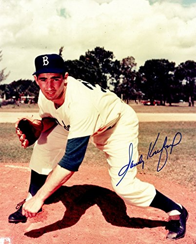 Sandy Koufax Signed - Autographed Brooklyn Dodgers - LA Dodgers 8x10 inch Photo - Guaranteed to pass PSA or JSA - 1955 World Series Champion + 1956 MVP and Cy Young Winner - 1955 World Series Mvp