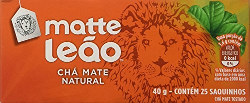 Leao - Mate Brazilian Tea Cha Matte - 40g, 25 Satches