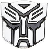 """Autobot Chrome Finish PVC Car Auto Emblem - 2.5"""" Tall"""