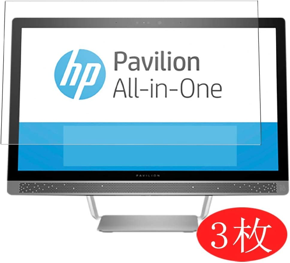 """【3 Pack】 Synvy Screen Protector for HP Pavilion 24-b200 All-in-One AIO / b227a / b259 / b225a / b240 / b223w / b209na / b240qe / b277c / b259na / b240nz 23.8"""" Film Protectors [Not Tempered Glass]"""