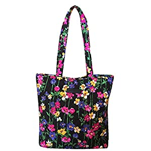 Vera Bradley Tote with Solid Color Interior (Updated Version) (Wildflower Garden)