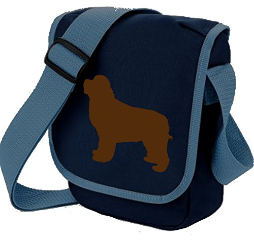 Bag Colours Gift Blue Newfoundland Brown Of Choice Reporter Dog Newfie Shoulder Silhouette gUwq4HxT