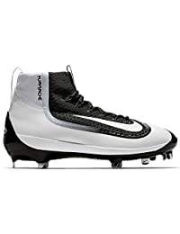 Air Huarache 2K Filth Elite Mid Mens Metal Baseball Cleats (12.5, Black/White