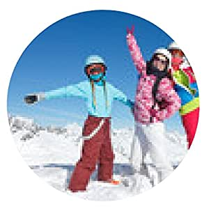 alfombrilla de ratón los niños de esquí - ronda - 20cm