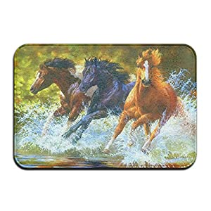 Horse RunningWater Splash Home Doormat Floor Mat 4060 Non-slip