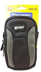 Canon PowerShot SX730 HS Digital Camera Case SDC-23 Point & Shoot Digital Camera Case, Black / Grey by Synergy Digital