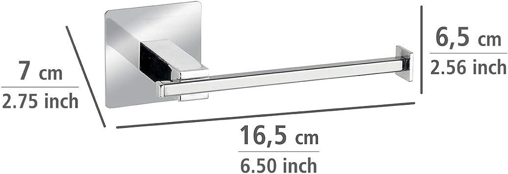 acero inoxidable, 6,5 x 6,5 x 3,5 cm, cromado Wenko 23846100 Turbo-Loc/® Gancho de pared