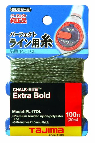 Bold Replacement - Tajima PL-ITOL Chalk-Rite Premium Grade Extra Bold Nylon Line, 1 mm Thick by 100-Feet