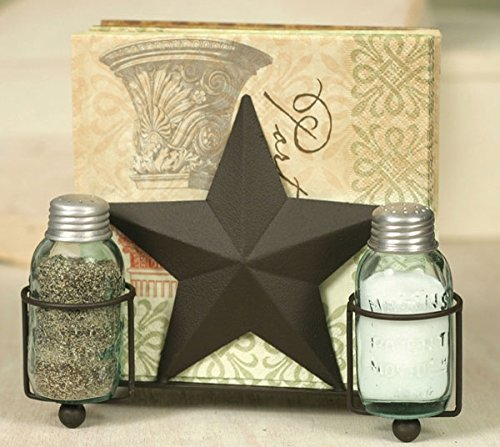 (Star Salt Pepper and Napkin Caddy)