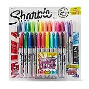 Amazon Lightning Deal 90% claimed: Sharpie 1949557 Color Burst Permanent Marker, Fine Point, Pack of 24, Assorted
