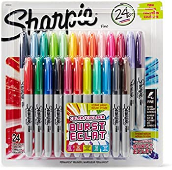 24-Pk. Sharpie Color Burst Fine Point Permanent Markers