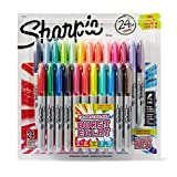 Image of Sharpie Color Burst Permanent Markers, Fine Point, Assorted Colors, 24-Count