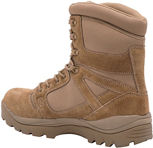 La Polizia Gear Tac Militare 8 Boot - Coyote Compatibile 670-1 Marrone
