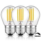CRLight 4W Dimmable Edison Style Antique LED Filament Globe Light Bulb, 3200K Soft White 400LM, E26 Medium Base Lamp, G14(G45) Clear Glass Shape, 40W Incandescent Equivalent, 3 Pack