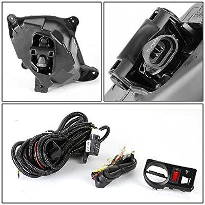 DNA Motoring FL-ZTL-130-AM FLZTL130AM Pair Fog Lights w/Switch [for 10-12 Genesis Coupe]: Automotive