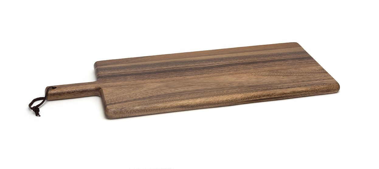 Lipper International 1028 Acacia Wood Kitchen Cutting and Serving Board, 21-1/2'' x 8-3/4'' x 3/4''