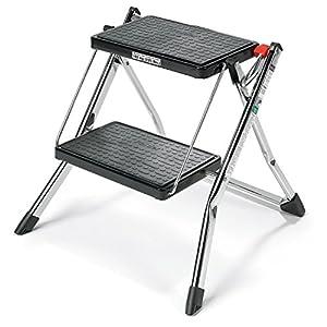 Polder 90401-05 Mini 2-Step Stool 17  High 225 lb. (102 kg.) Capacity Chrome  sc 1 st  Amazon.com & Amazon.com: Polder 90401-05 Mini 2-Step Stool 17