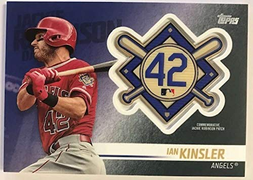 (2018 Topps Update and Highlights Baseball Series Jackie Robinson Day Manufactured Medallion Patch #JRP-IK Ian Kinsler Lo Official MLB Trading Card)
