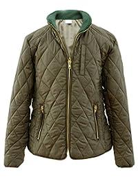 HengJia Middle Boys & Girls' Cotton Padded Casual Striped Thin Jacket Coats