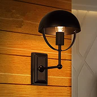 QIMLIGHT Plug in Wall Sconce Modern Wall Lamp Retro