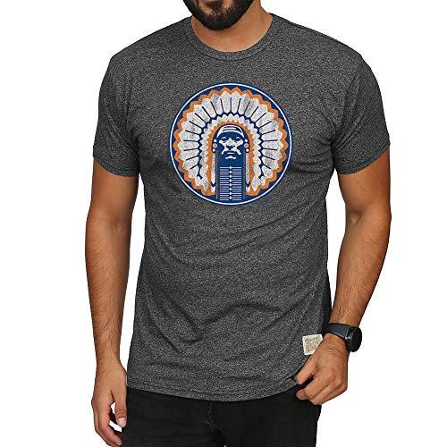 Illini T-shirts - Elite Fan Shop Illinois Fighting Illini Retro Tshirt Charcoal - L