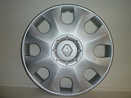 Juego de Tapacubos 4 Tapacubos Diseño Renault Clio Desde 2005 r 15: Amazon.es: Coche y moto