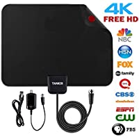 TV Antenna,50 Mile Range Amplified TV Antenna HD with Amplifier Signal Booster and 10ft Coaxial Cable,HDTV Antenna Support All Digital-Ready and FHD Televisions