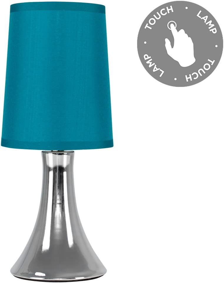 Minisun Trumpet Touch Table Lamp Chrome