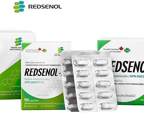 Redsenol – Contain 16 Rare Ginsenosides: Rk2 Rg5 Rh2 Rk1 Rk3 – Panax Ginseng Extract, 12% Rare Ginsenosides – 2 Boxes x 90 Capsules
