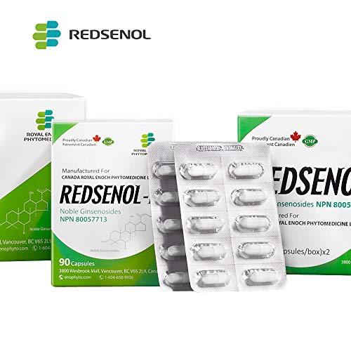 Redsenol - Contain 16 Rare Ginsenosides: Rk2 Rg5 Rh2 Rk1 Rk3 - Panax Ginseng Extract, 12% Rare Ginsenosides - 2 Boxes x 90 Capsules (Stage 1 Triple Negative Breast Cancer Prognosis)