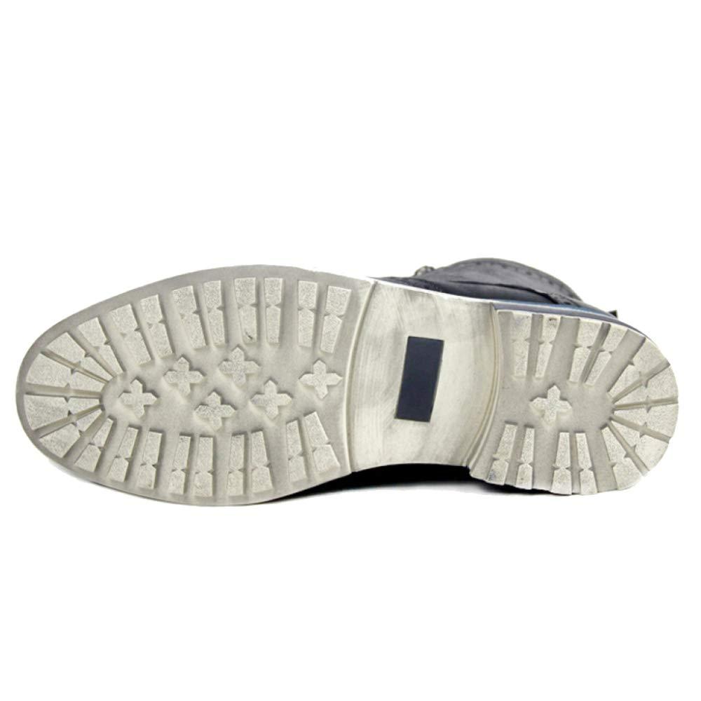 SHANLY Zapatos De Tacón Alto Alto Alto Superior Botas De Hombre Botas Martin Botas De Tobillo De Cuero Genuino Botín De Herramientas Trabajo Utilitario Calzado,Verde-45 06f9dd