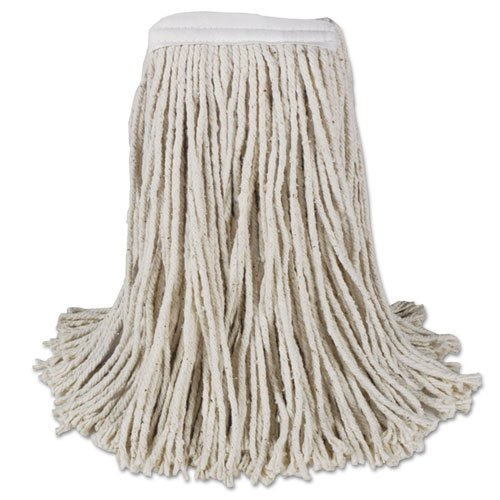 Mop Head Cotton 4 Ply - BWKCM02016S Mop Head, Cotton, Cut-End, White, 4-Ply, 16 Band