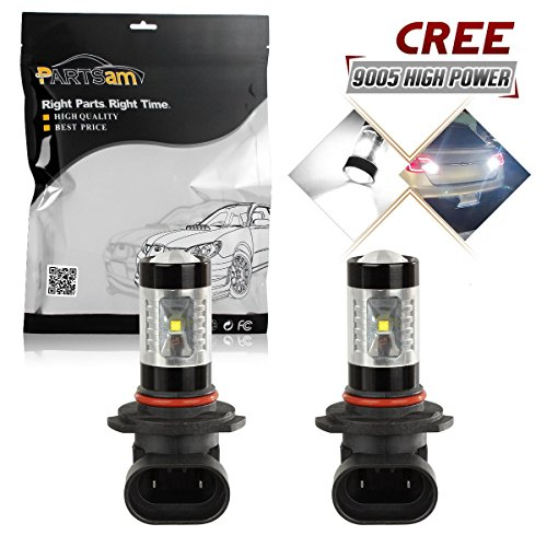 Partsam 2PCS 9005 9055 Fog Driving Light Genuine Cree Chip High Power 30W Led Projector Lens for 2002-2005 FORD Crown Victoria (Specs Ford Crown Victoria)