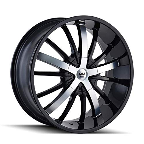 ESSENCE (364) GLOSS BLACK/MACHINED FACE 20X8.5 5-112/5-120 35MM 72.56MM