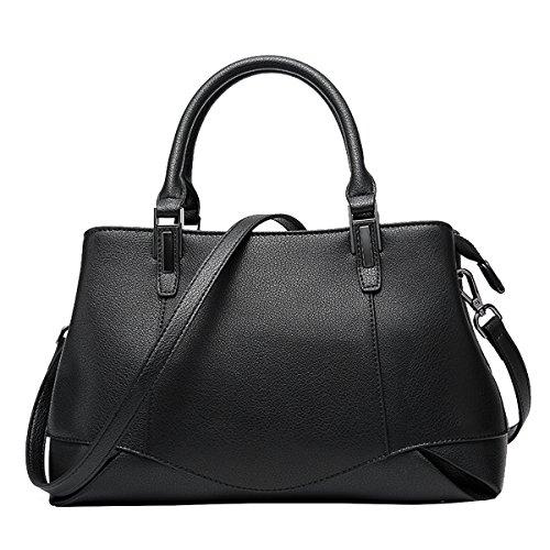Valin, sac à main noir moyen pour femmes