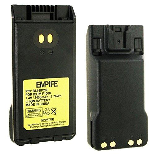 Icom BP279 2-Way Radio Battery (Li-Ion 7.4V 2400mAh) - Replacement for ICOM BP280LI Two-Way Radio Battery