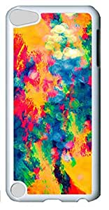 Fashion Customized Case for iPod Touch 5 Generation White Cool Plastic Case Back Cover for iPod Touch 5th with Colorful Paint