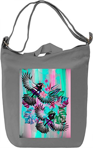 Tropical Birds Borsa Giornaliera Canvas Canvas Day Bag| 100% Premium Cotton Canvas| DTG Printing|