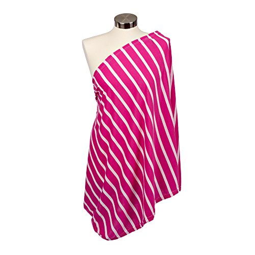(Itzy Ritzy Breastfeeding Cover and Infinity Nursing Scarf - Nursing Cover Can Be Worn as a Scarf and Provides Full Coverage While Nursing Baby, Pink Peony Stripe)