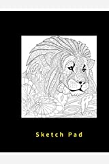 Sketch Pad: Blank pages, 110 pages, White paper, Sketch, Draw and Paint Paperback