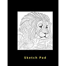 Sketch Pad: Blank pages, 110 pages, White paper, Sketch, Draw and Paint