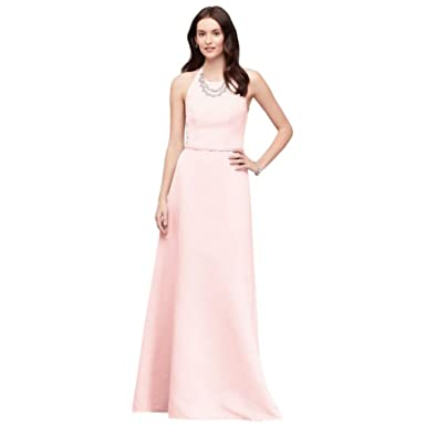 72fe987e28 David s Bridal Crystal Necklace Faille A-Line Bridesmaid Dress Style  OC290034