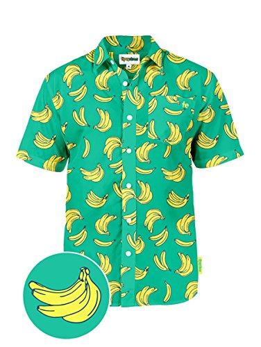 Tipsy Elves The Havana Banana Hawaiian Shirt: Medium -