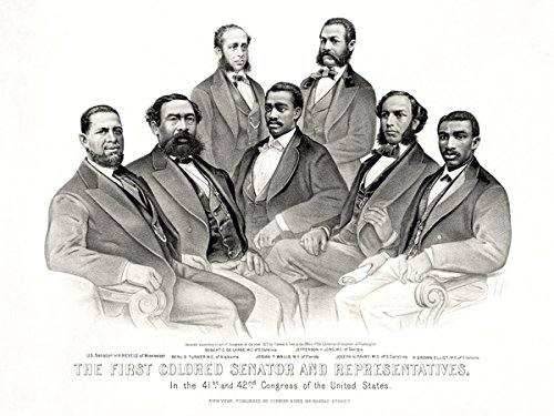 777 Tri-Seven Entertainment First African American Senator and Representatives Poster Reconstruction Era 1872 Black History, 24