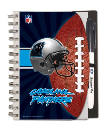 Carolina Panthers Deluxe Hardcover, 5 x 7 Inches Autograp...